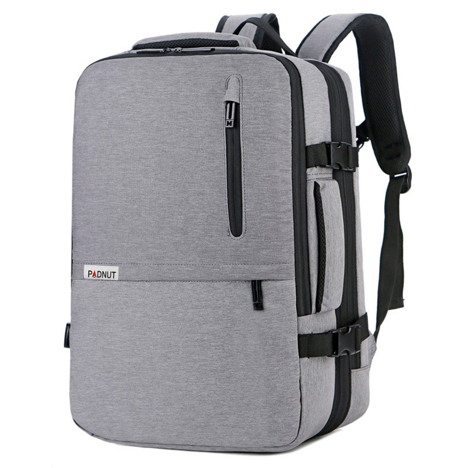 "Waterproof Men Women 17/"" Laptop Backpack Travel Business School Bag USB Port New"