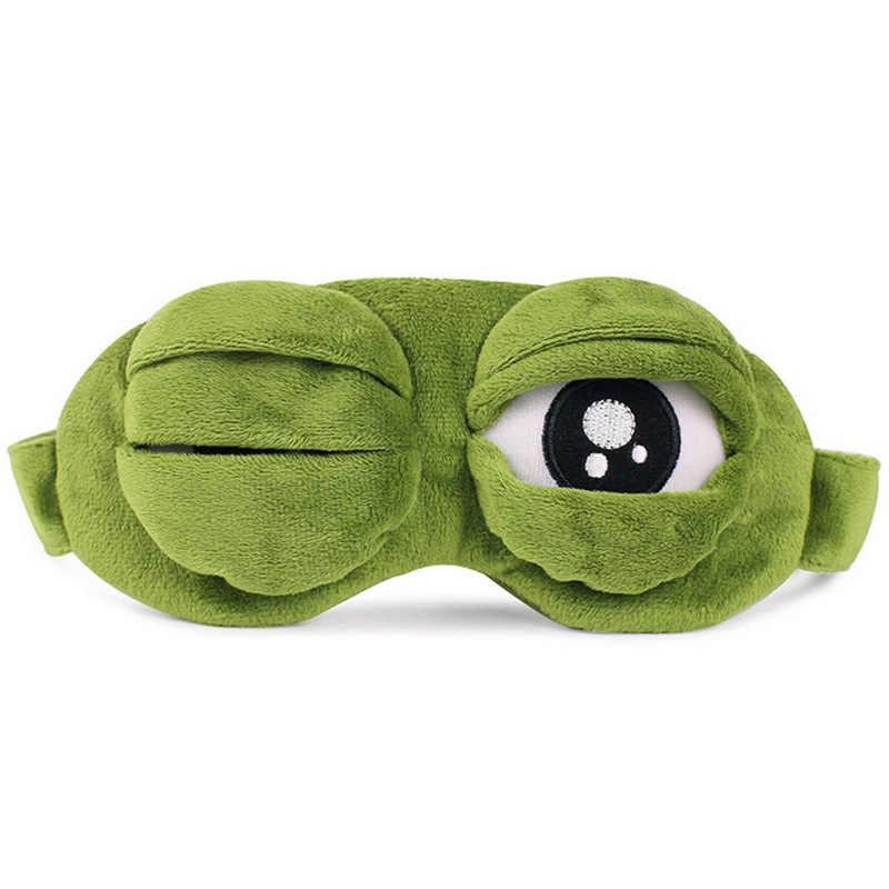 2019 子供ぬいぐるみ子供のためのかわいい漫画睡眠クリエイティブおかしいアイマスクペペカエル悲しいカエル 3D マスクアニメギフト