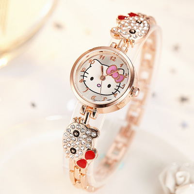 Children's watch cute primary school student watch electronic watch cartoon cat watch Lady Watch Hello ktty