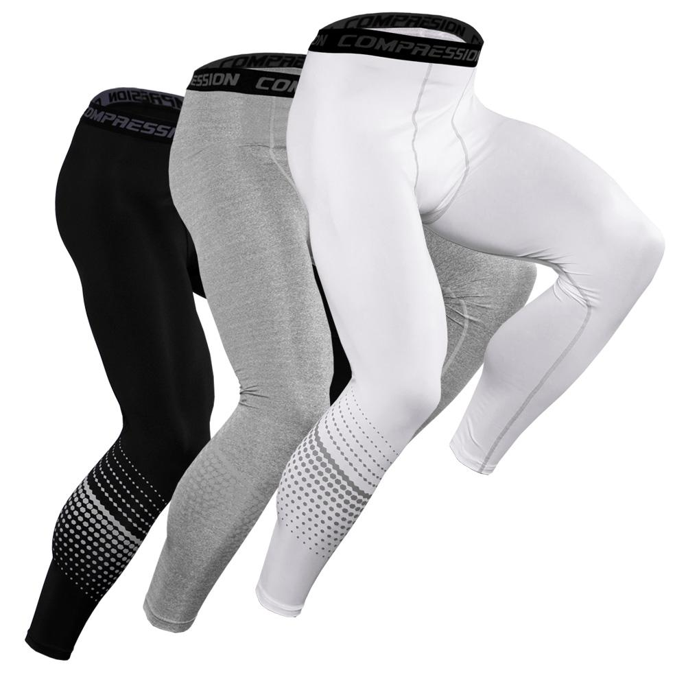 2020 New Running Compression Pants Tights Men Sports Leggings Fitness Sportswear Long Trousers Training Pants Skinny