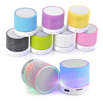 A9 Mini Bluetooth Speaker LED Night Lights Hands Free BoomBox Subwoofer Portable Speakers TF USB AUX Audio MP3 Player Sound Bar image