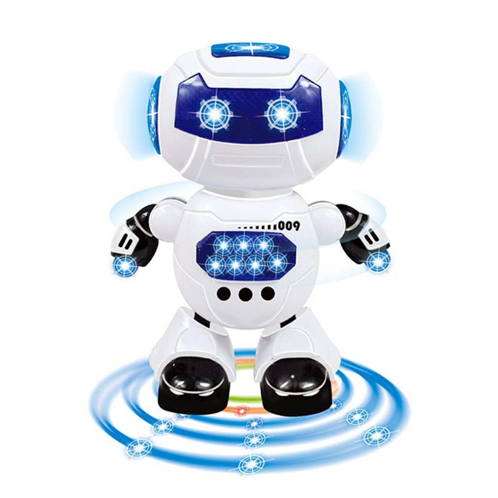 Toys for Children Dance and Music Robot Action Children's Electric Toys Hyun Dance Robot Rotating Light Music|RC Robot| |  - title=