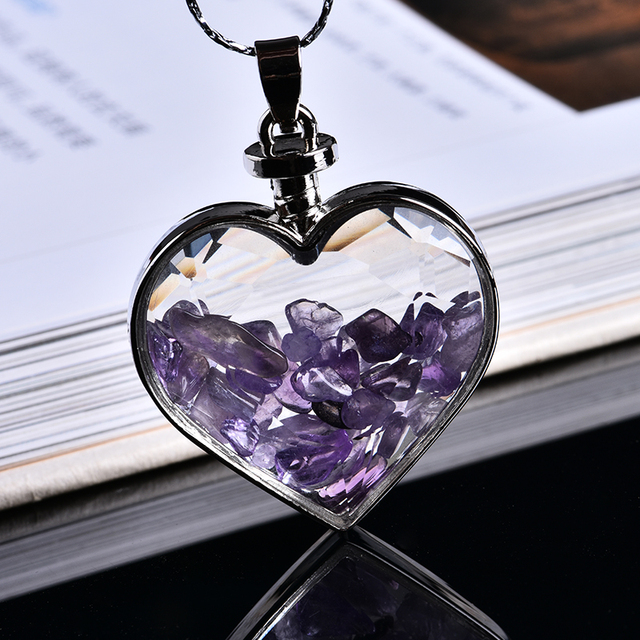 Natural Love Wishing Bottle Pendant  3