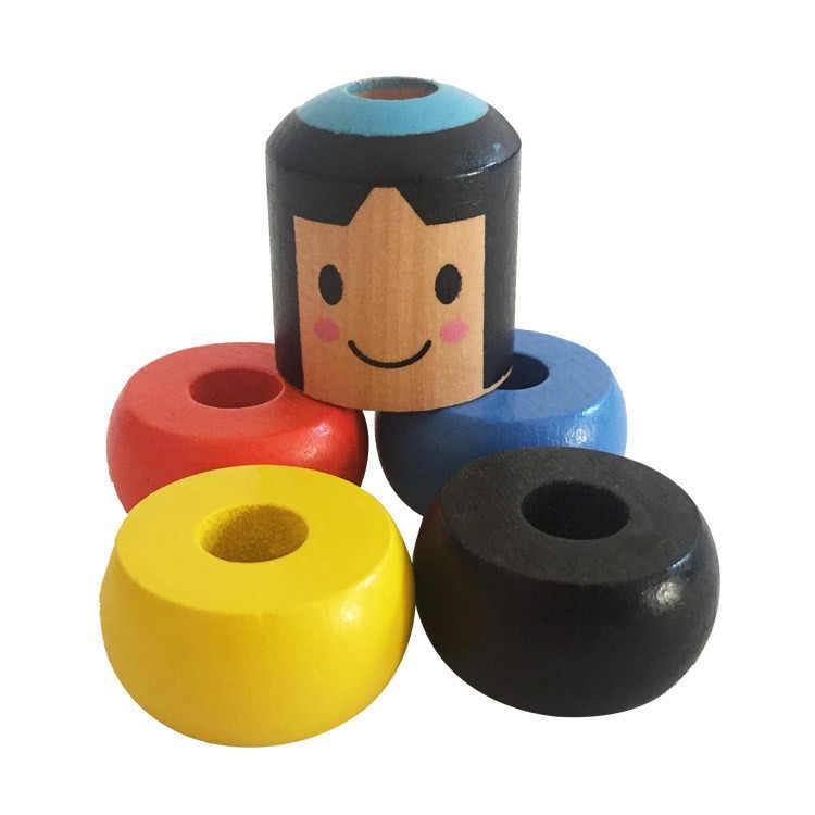 1 مجموعة الخالد داروما غير قابلة للكسر خشبية رجل الخدع السحرية قرب Magia Mentalism الوهم حيلة الدعائم اليابان اللعب التقليدية