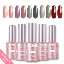 MIZHSE 18ML Gel Nail Polish UV LED Varnish For Manicure Vernis Semi Permanent Matt Top Base Coat Lak Nails