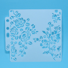 Stencils Sticker Rose-Flower Layering Painting Scrapbooking/diy Sewing-Fabric/christmas-Cake-Decoration