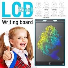 Tablero de escritura LCD colorido para niños y adultos, tableta de dibujo Digital de escritura a mano, grafiti, bricolaje, regalo para el hogar y la Oficina, 12 pulgadas