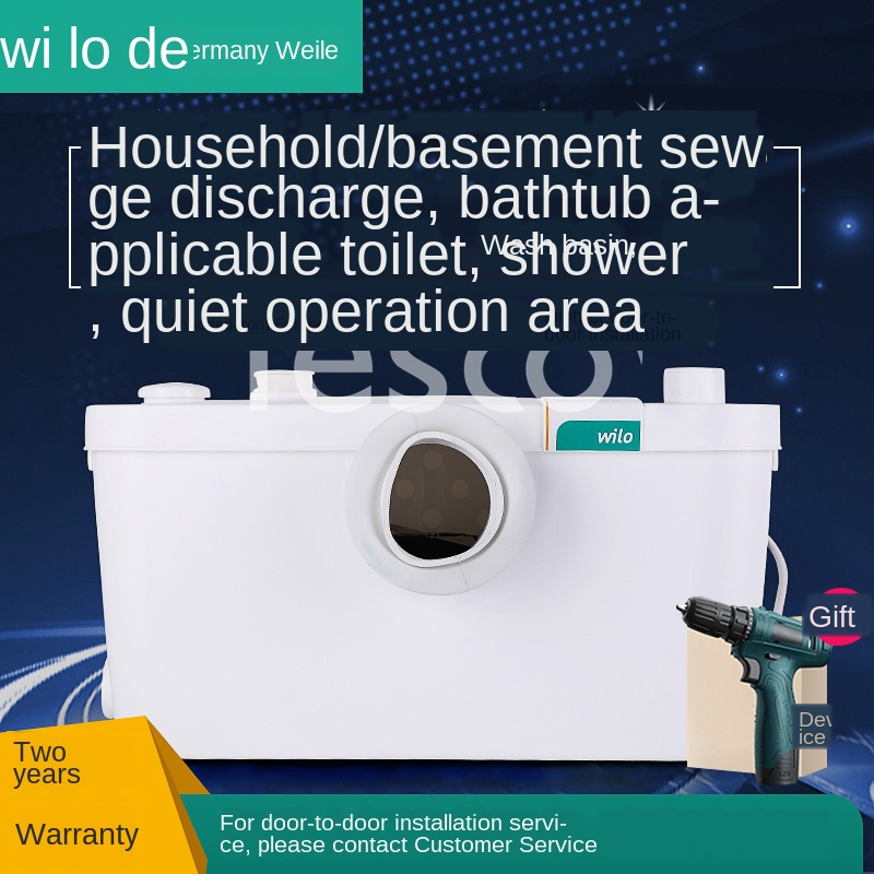 Inlet Pump Basement Sewage Pump Sewage Elevator Toilet Crusher Shower Booster Pump