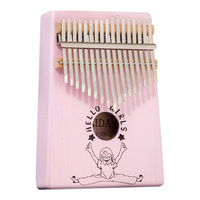 Practical Thumb Piano High Quality durable Wooden board Mahogany Musical Instrument With Learning Book Tune Hammer