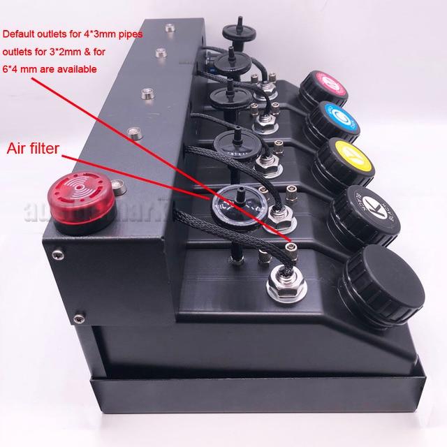 500ml UV Ink Cartridge Assembly CISS Stirring Motor Level Sensor Sound Light Alarm Ink Supply System for A3+ UV Inkjet Printers 2