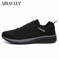 Black-Men Women Knit Shoes Breathable Running Walking Gym Sneakers