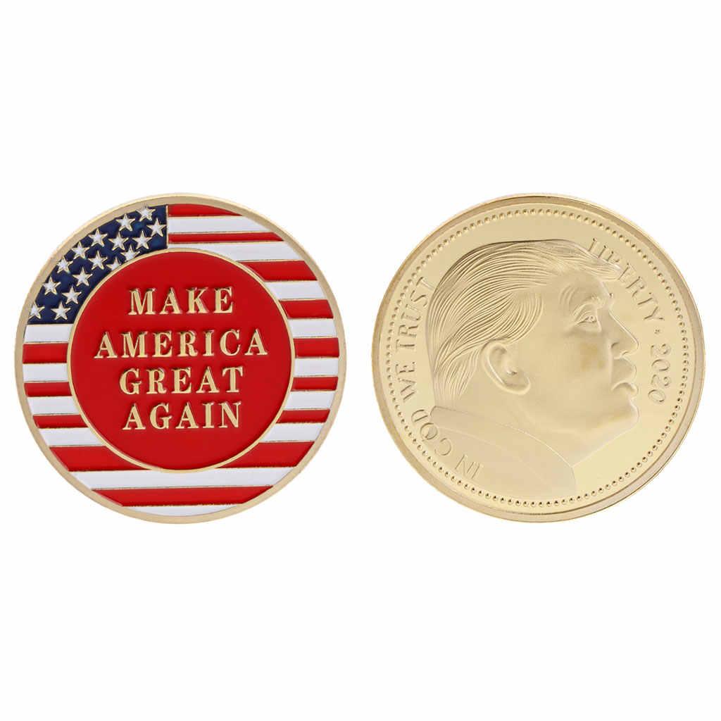 Памятная монета 2020 Дональд Трамп президент клятва коллекция серебро золото