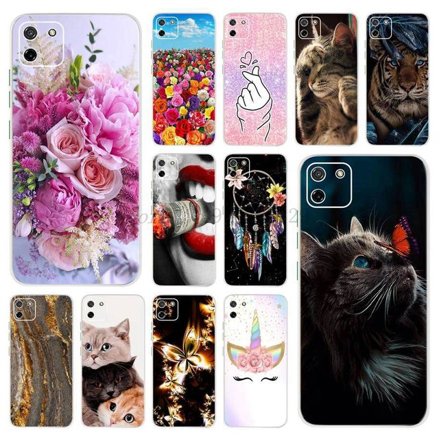 """6.5"""" Case For Realme C11 Back Cover Silicon Shockproof TPU Phone Bag For OPPO Realme C11 C 11 RealmeC11 2020 Global Version Case"""