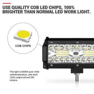 Image 2 - 4 7 9 12 15 18 20 Inch Offroad LED Bar Lũ Điểm Combo Xà Đơn Làm Việc Đèn Sương Mù đèn Trợ Sáng Cho UAZ KTM SUV ATV Đèn Pha