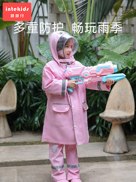 Children Raincoats Blue Boys Rain Gear Rain Poncho Pink Long Girls Rain Coat Pants Kids Waterproof Coat Capa De Chuva Gift Ideas 3