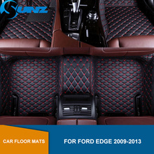 car floor mats case for ford escape kuga maverick 2015 customized auto 3d carpets custom fit foot liner mat car rugs black Car floor mats For Ford Edge 2009 2010 2011 2012 2013 Custom auto foot Pads automobile carpet cover Waterproof Carpets  SUNZ