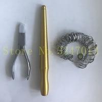 3PCS/set Jewelry mandrel ring sizer gauge stainless steel plier set