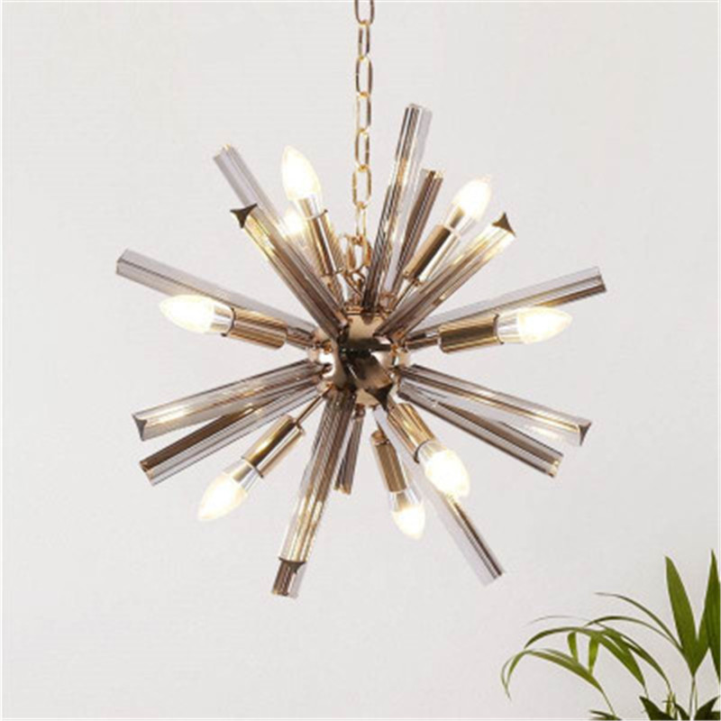 New Loft Style Creative Smoke Crystal Chandelier Art Dandelion Destgn Parlor Dining Room Coffee shop Hanging Light Fixtures|Pendant Lights| |  - title=
