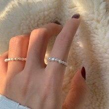 Peri'sBox – bagues de perles multiperles naturelles d'eau douce, anneaux géométriques pour femmes, cercle continu, bague minimaliste, nouveau 2020