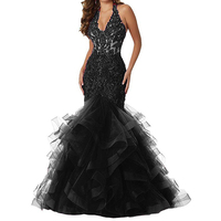 Cap Sleeves V Neck Mermaid Evening Dresses Long Sliver/Gold Lace Appliques Beads Formal Dress Prom Party Gowns Abendkleider 2020