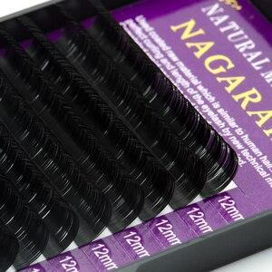 Image 4 - NAGARAKU 5 cases high quality  Eyelash extensions faux mink individual eyelashes soft false lashes  makeup fast shipping