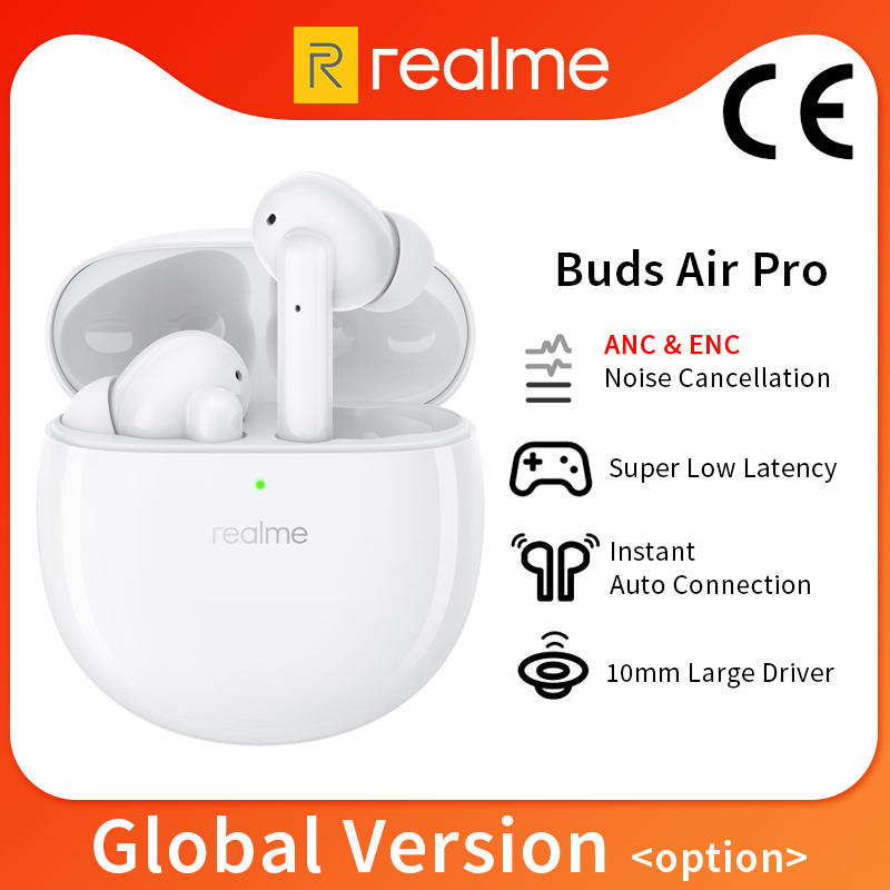 Глобальная версия CN realme Buds Air Pro TWS наушники Blutooth 5,0 активное шумоподавление двойной микрофон для realme 7 Pro 7i 6 Pro
