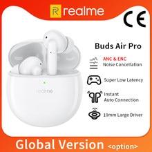 Versão global botões realme ar pro tws blutooth 5.0 cancelamento de ruído ativo duplo microfone para realme 7 pro 7i 6 pro