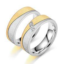 Женские и мужские кольца для влюбленных из нержавеющей стали