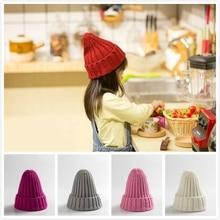 Зимняя вязаная шапочка для маленьких мальчиков и девочек, яркая шляпа с загнутыми краями, модная детская осенне-зимняя теплая мягкая шапка, шапка, От 0 до 4 лет