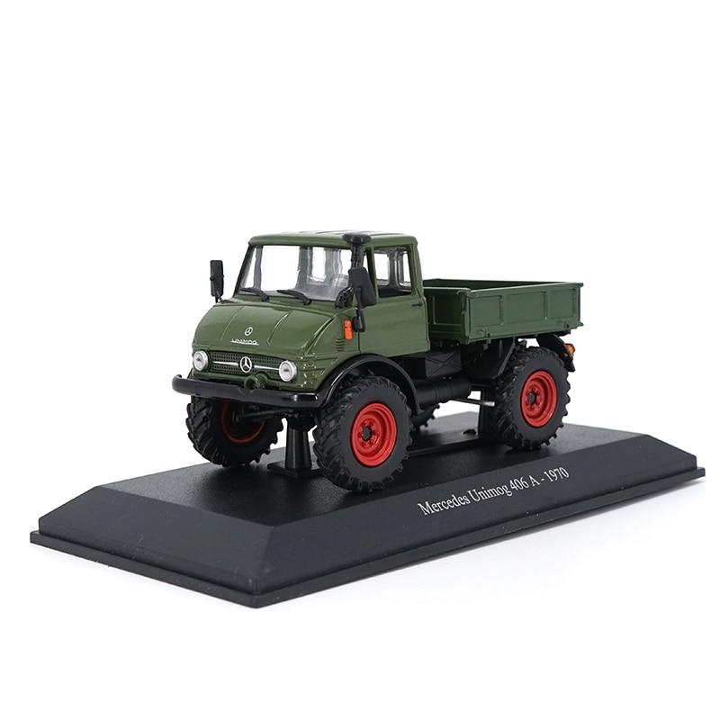 Alta simulação 1/43 escala liga unimog 406a 1970 caminhão morre molde veículo modelo de carro brinquedo para coleção crianças presente
