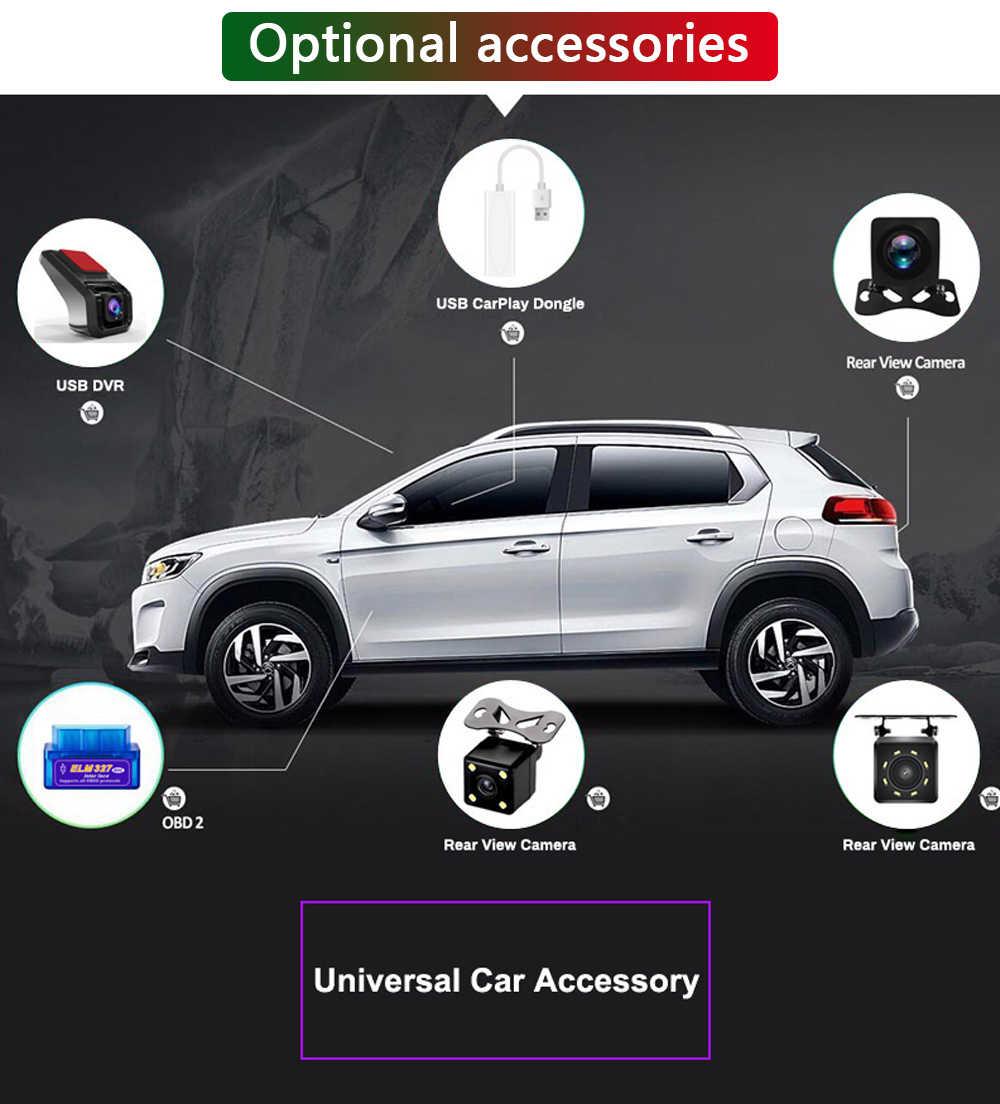 Universal Opsional Mobil Aksesori/OBD2/Receiver DAB + Carplay + USB DVR + Rear View Kamera untuk android Mobil Radio Navigasi DVD
