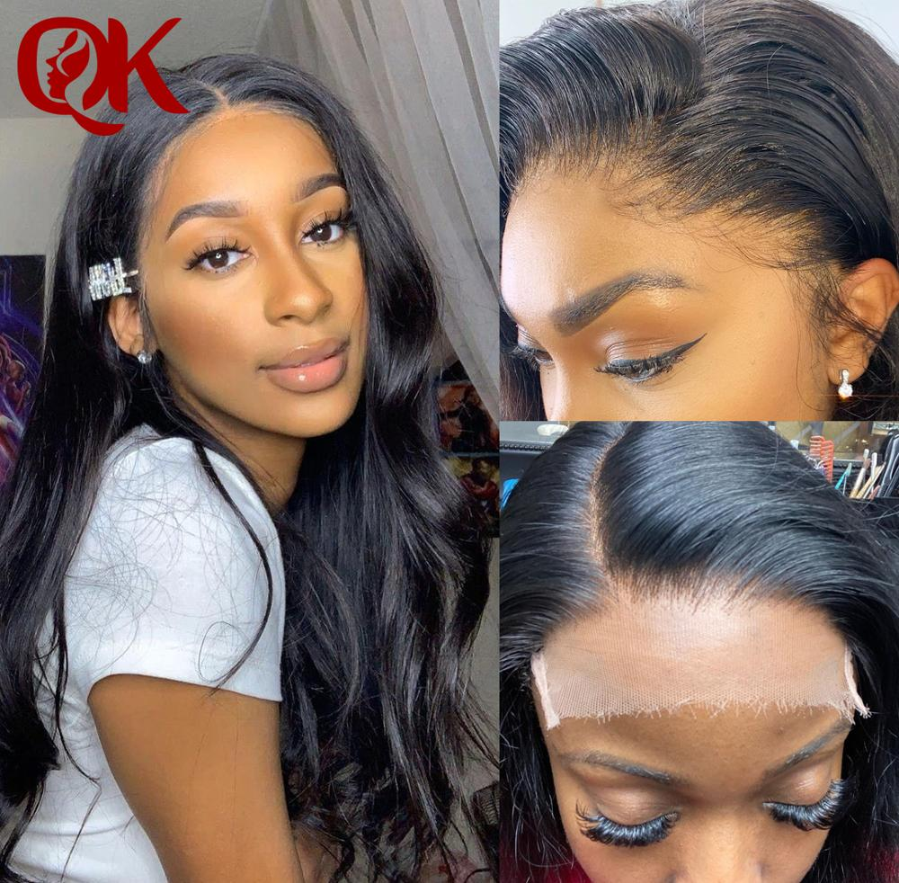 QueenKing HD 5x5 Lace Closures With Bundles Body Wave Bundles With Closure Brazilian Human Hair Bundles With HD Closure