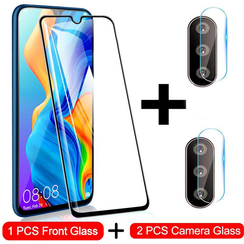 3 In1 Screen Protector Full Protective Glass For Huawei P30 P20 Lite Pro Back Camera Lens Tempered Glass For Huawei P Smart 2019
