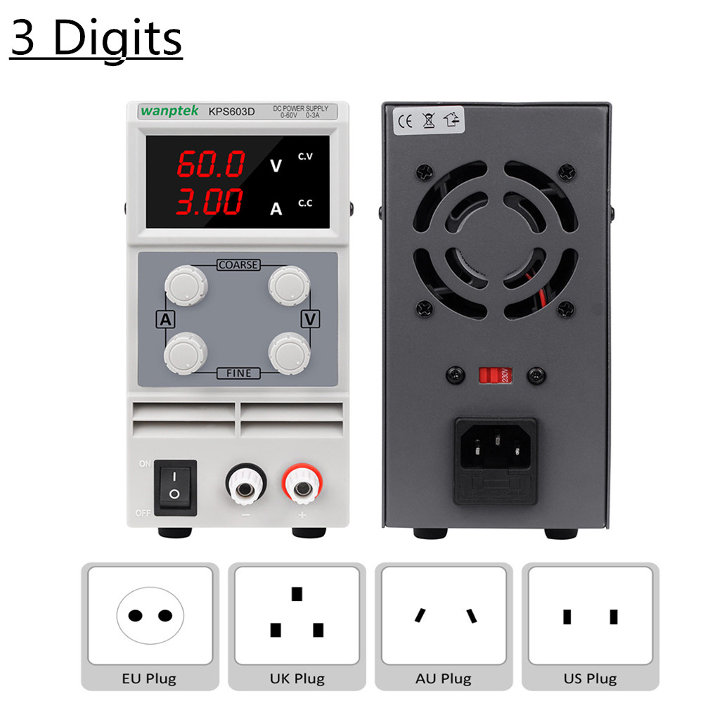 KPS Series Adjustable <font><b>DC</b></font> Power <font><b>Supply</b></font> Voltage Regulator 30V 10A 30V 5A 60V 5A Power Current Stabilizer 3 Digits Display <font><b>30</b></font> <font><b>V</b></font> image