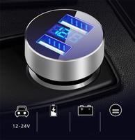3.1A Dual cargador de telefono de coche USB para BMW / Mini / Rolls-Royce / Mercedes-Benz Smart / Jaguar / Volvo / Land Rover / SAAB