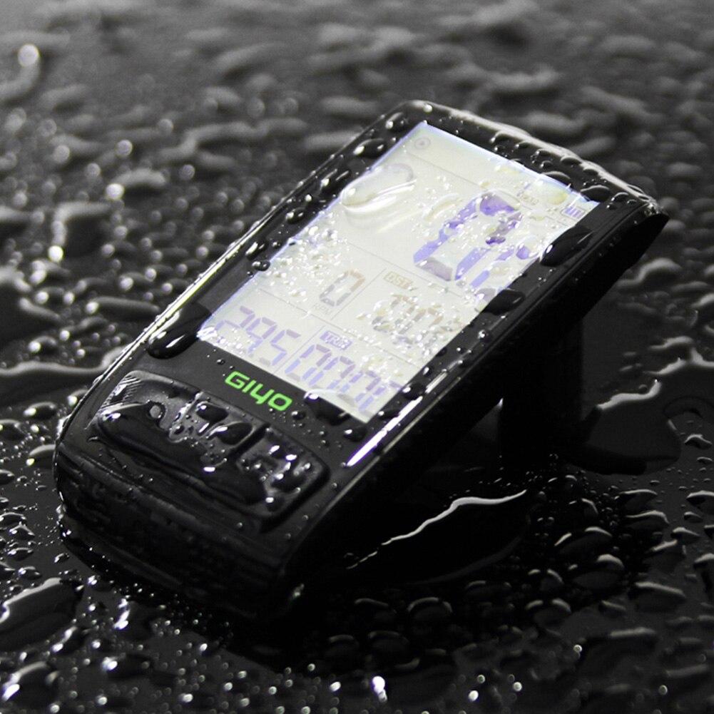 ABZB GIYO mesa de código de bicicleta Bluetooth inalámbrico para bicicleta de carretera velocímetro odómetro backlight impermeable M4 - 4