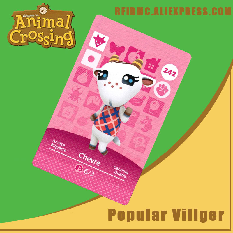 242 Chevre Animal Crossing Card Amiibo For New Horizons