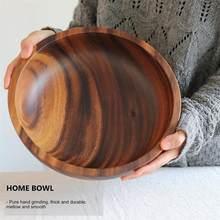 8X6CM Natural Wooden Salad Bowl Fruit Decoration Practical Bowl Household Kitchen Wooden Bowl Tableware restaurant kitchen
