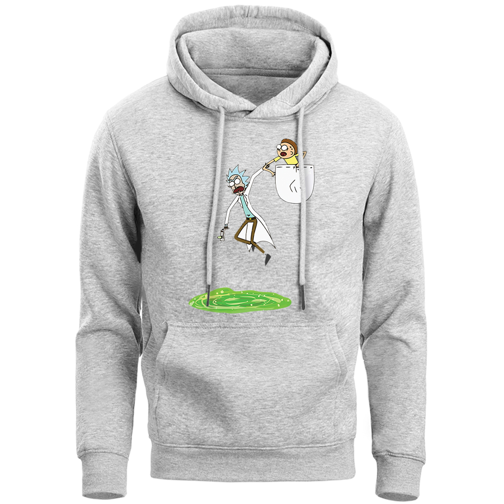 Rick And Morty Hoodies Sweatshirts Men Funny Casual Hip Hop Anime Hooded Winter Fleece Men'S Sportswear Sweat A Capuche Homme