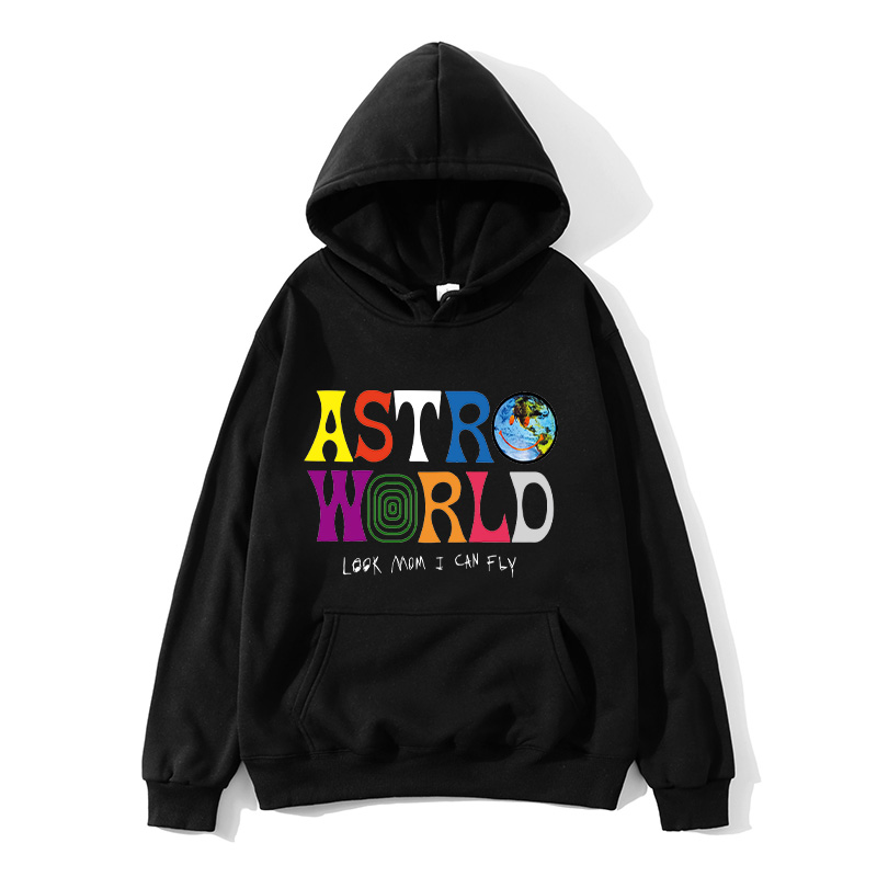 TRAVIS SCOTT ASTROWORLD2020 WISH YOU WERE HERE HOODIES Fashion Letter ASTROWORLD HOODIE Streetwear Man Woman Pullover Sweatshirt