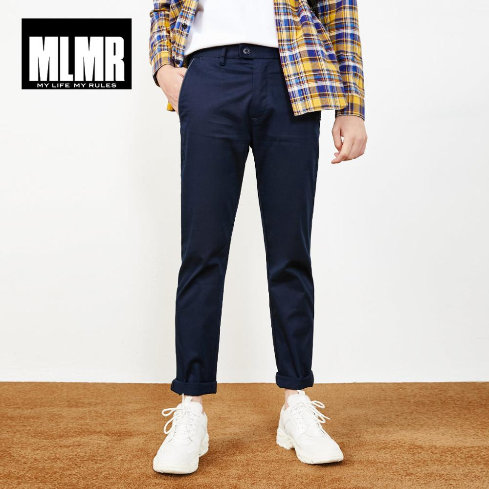 MLMR Men's Cotton Stretch Slim Fit Casual Pants JackJones New Brand Menswear 218314560