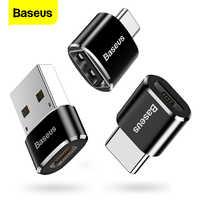 Adaptador USB tipo C OTG Baseus, convertidor USB USB-C macho a Micro USB tipo c hembra para Macbook Samsung S20 USBC OTG conector