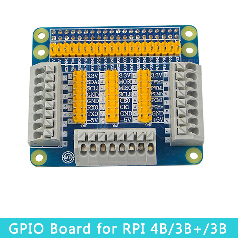 Raspberry Pi 4 Model B GPIO Expansion Board Extension Module For Robot DIY Experiment Test Compatible Raspberry Pi 4B/3B+/3B