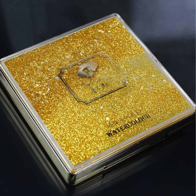 Rubens helle farbe mini tragetasche solide 12 aquarell malen set aquarell darstellung gold kompakte Kunst Liefert