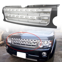 Car Front Racing Grille Bumper ABS Mesh Grill For Land Rover LR3 Discovery 3 L319 2005 2006 2007 2008 2009 Gray Silver