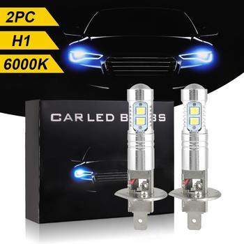 2pcs H1/H3 LED Headlight Bulb Waterproof Super Bright Fog Light Daytime Running 6000K White DC 12V-24V 6000K 1800LM White Light image
