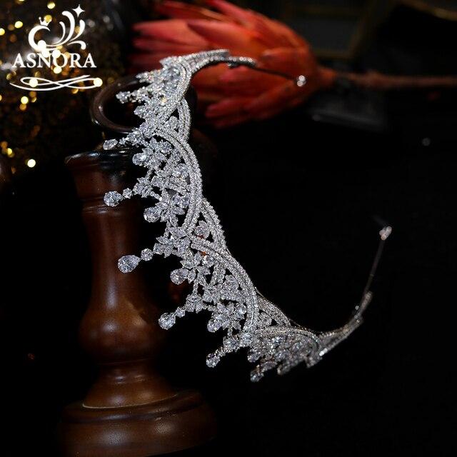 Asnora crystal headband crown tiar