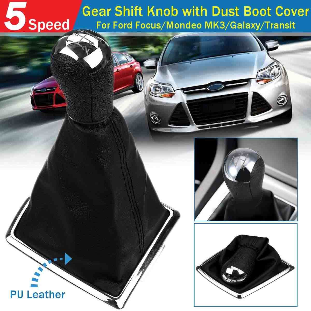 Abs 5 Speed Gear Shift Knob Gaiter Boot Dust Cover For Ford Focus 2 Mk2 Mondeo Mk3 C Max S Max Mustang Galaxy Fiesta Mk6 Transit Aliexpress