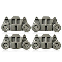 4Pcs W10195416 Dishwasher Wheel for W10195416 Whirlpool Kenmore Kitchen|  -
