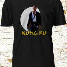 New kung fu TV Series kwai chang caine Shaolin David Carradine Black T-Shirt